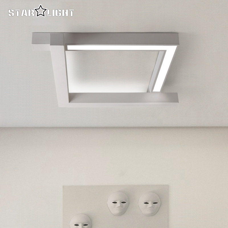 Aliexpress Buy New Singular Space Led Ceiling Light Black White Indoor Lighting Bedroom Living Room Lamp Foyer Lamps Free Shipping From Reliable