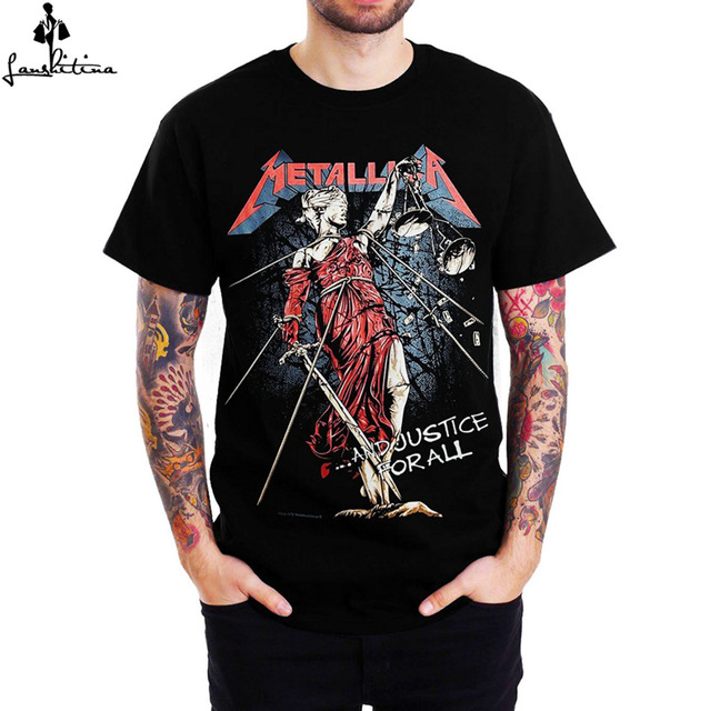 cef26a36910 Funny shirt cheap men t-shirt men casual shirt Metallica AND JUSTICE FOR ALL  Sketched Graphic men s short sleeve shirt