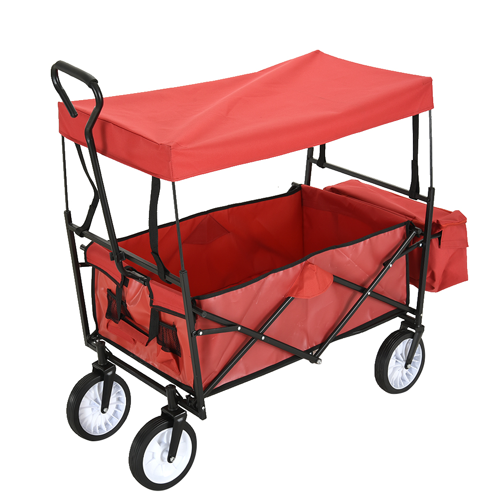 Panana Garden Wagon Children Kids Pull Along Trolley Cart Trailer Transport Outdoors Fast shipping 4 Wheels Ship to Europe Fast image