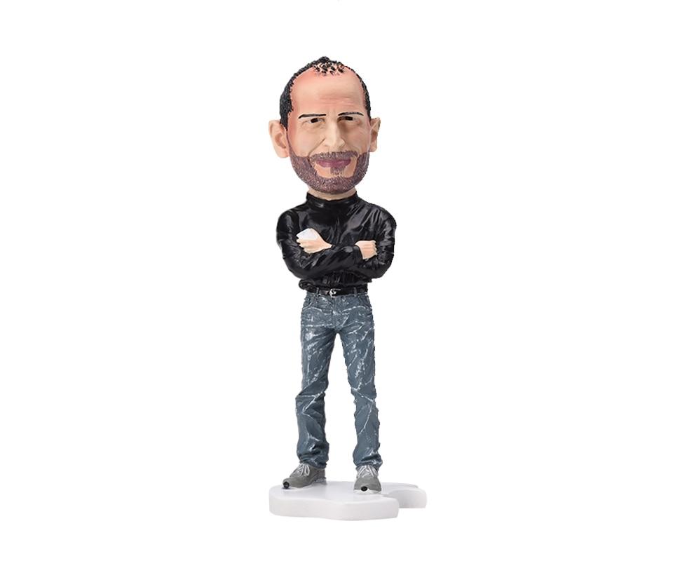 18cm Steve Jobs figura artizanat artizanat Sculptură artificială - Păpuși și jucării umplute