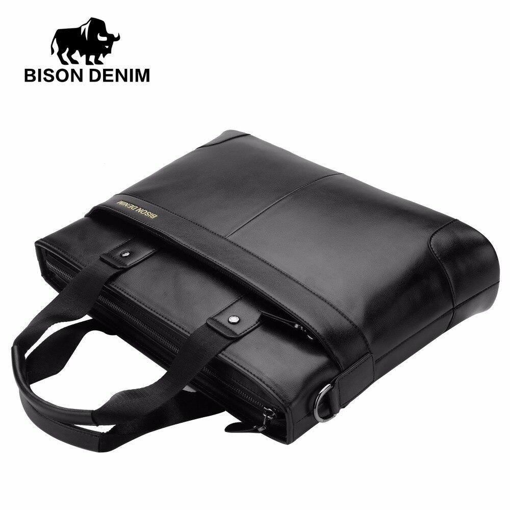 couro genuíno 14 ''laptop briefcase Material Principal : Couro Genuíno