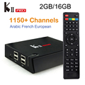 КИИ Pro DVB-S2 и DVB T2 TV Box Android 5.1 2 Г + 16 Г Amlogic S905 Quad Core HD 4 К 1080 P Смарт Медиа-Плеер с iptv европа сервера