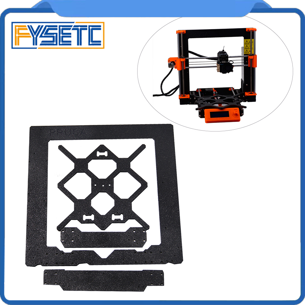 Cloned Original Prusa i3 MK3 Aluminum Alloy Frame + Y Carriage +Front With Rear Plate Set For Prusa i3 3D Printer Parts