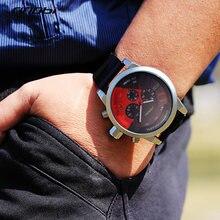 ساعات رجالي ماركة فاخرة ساعات رياضية مطاطية رجالية سريعة العاطفة SINOBI ساعة كوارتز كرونوغراف ساعة عسكرية ساعة معصم