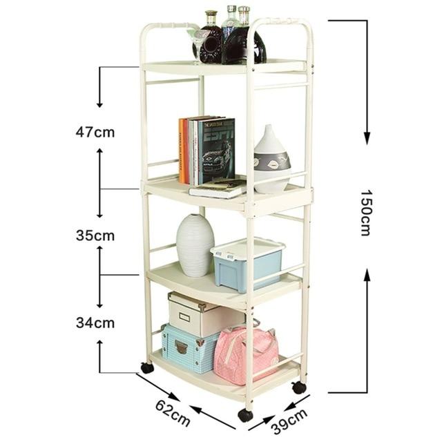 4-Tier kuchenka mikrofalowa stojak stojak toczenia kuchnia wózek do transportu stacji roboczej regał wózek z hakami do naczyń kuchennych DQ1209