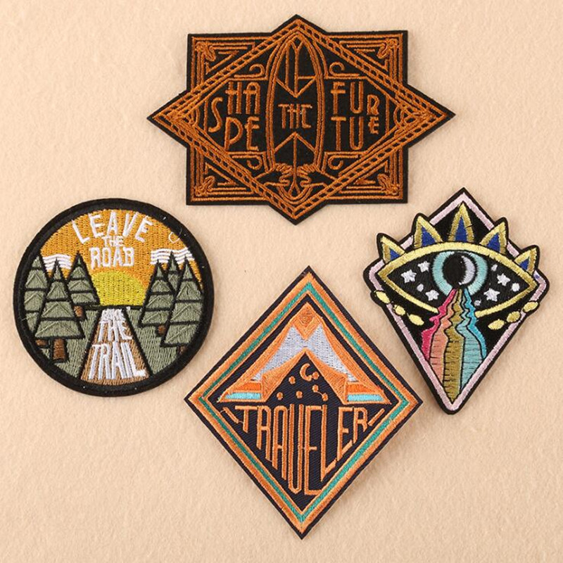 The Eyes Badges Parches Ropa Embroidered Iron On Patches For DIY Cloth Patch Fashion Design Motif Applique Badge