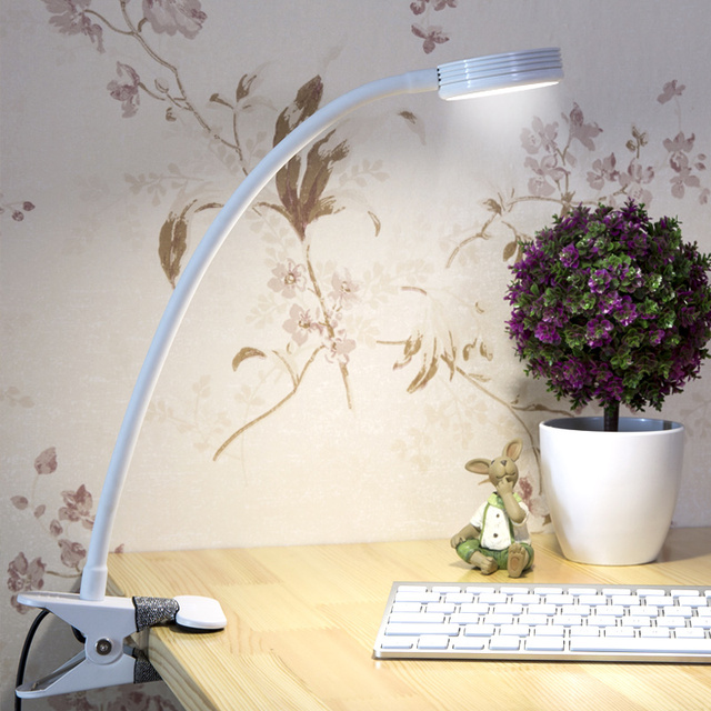 High-quality hose Led desk lamp USB plug-in charge night light dormitory bedroom Dimming reading light indoor lighting