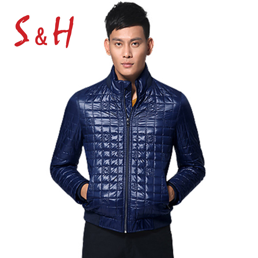 S&H <font><b>Geometric</b></font> <font><b>Pattern</b></font> <font><b>Rib</b></font> <font><b>Spliced</b></font> <font><b>Padded</b></font> <font><b>Jacket</b></font> ODM Designer Winter Casual Man Clothing Cotton <font><b>Padded</b></font> Male <font><b>Jacket</b></font> Stand Collar