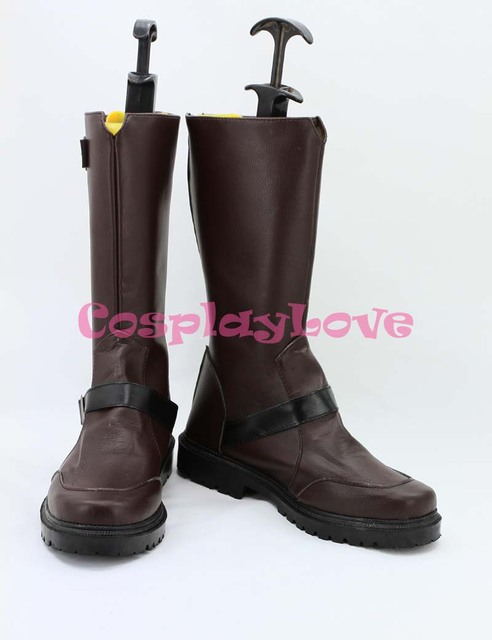 Noragami Yato Cosplay Shoes Boots Brown Color Hand Made Custom-Made For  Halloween Christmas Festival