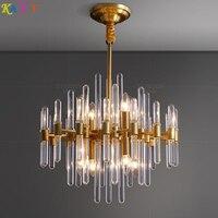KAIT Modern LED copper Gold Chandelier Lighting for Foyer Stair Staircase