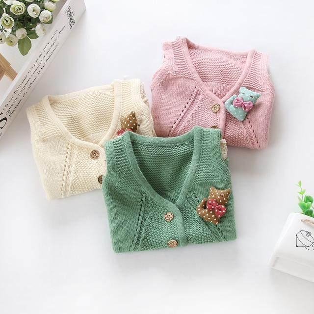 Tienda Online 2018 primavera otoño niñas Chaleco de algodón lana ...