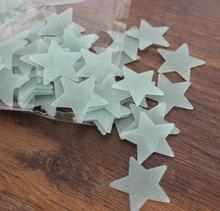 Wall Sticker Christmas gift ideas 100 / bag PVC luminous stars in luminous patch fluorescent stickers wall stickers 3194 halloween style luminous pvc wall sticker