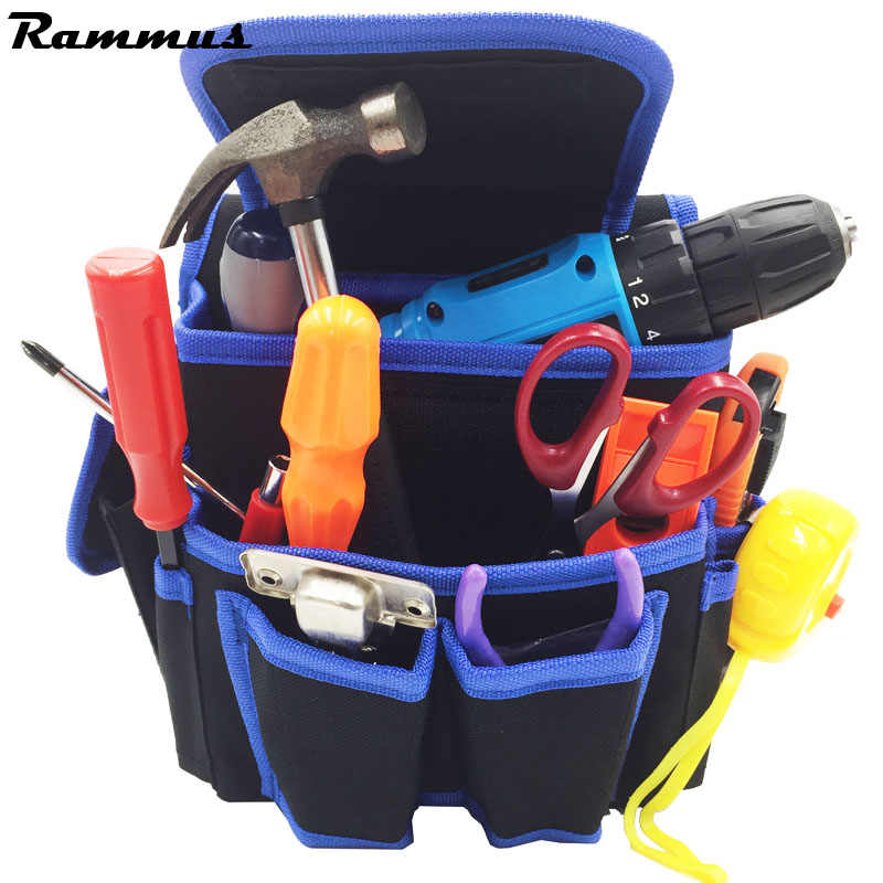 Electrician Waist Bag Tool Holder Convenient Work Organizer Pouch Belt Men Multi-Pockets Universal Tool Bag For Hand Tools