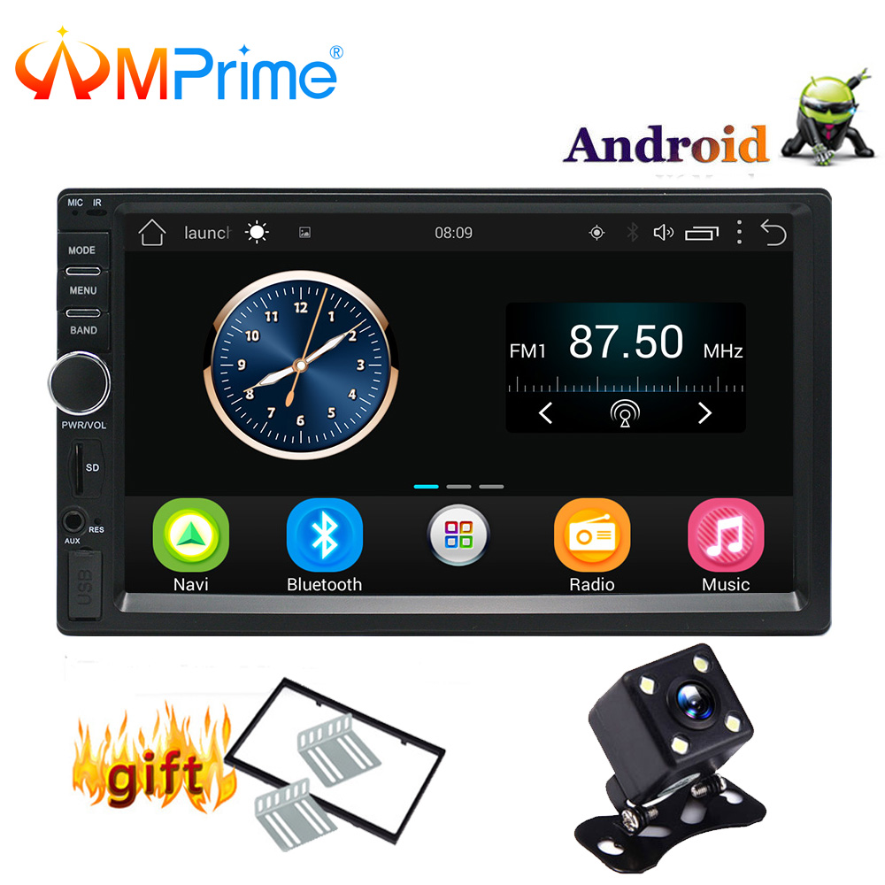 "AMPrime Auto Radio 2 Din Android GPS Navigation Car Radio Car Stereo 7""1024*600 Universal Car Player Wifi Bluetooth USB Audio"