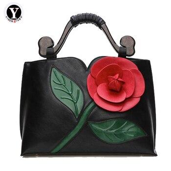 Yirenfang Luxus Handtaschen Frauen Taschen Designer 2017 Nation Blume Tasche Handtasche Berühmte Marke Schulter Tasche Frauen Messenger Bags