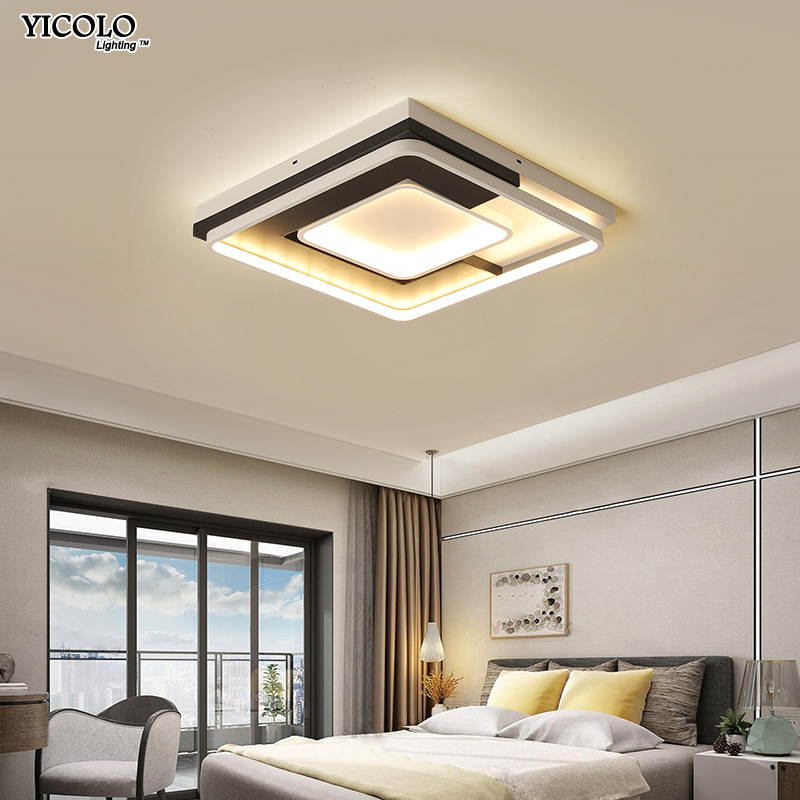 square design Modern LED ceiling lighting ceiling lamps for the living room Ceiling for the hall modern ceiling lamp high 7cm de цены
