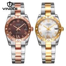 VINOCE Bracelet Watch 2017Top Brand Luxury Watch Women Stainless Steel Crystal Diamond 100M Waterproof Relogio Feminino #633278