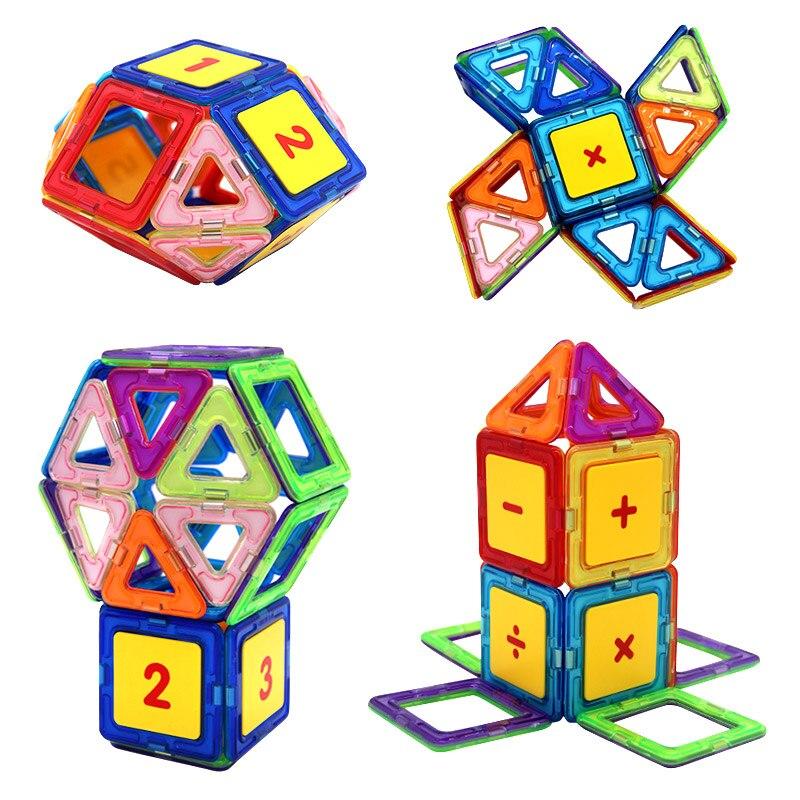 Big Size Magnetic Blocks DIY building Digital Bricks Part Accessory Construct Magnet Designer Educational Toys For Kids Gift