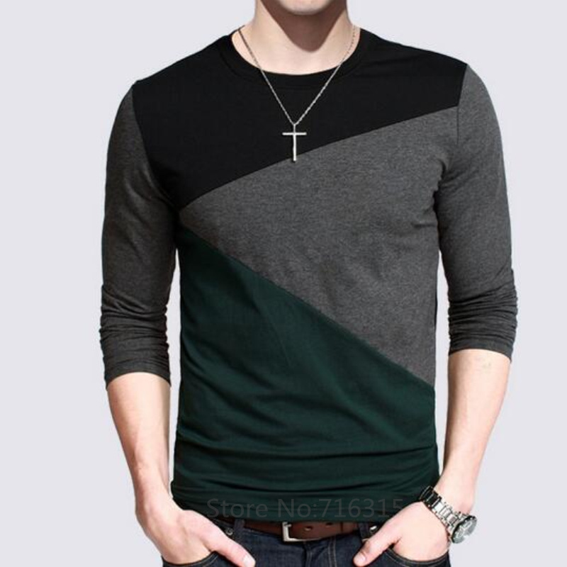 12 designs 2016 fashion men 39 s casual t shirts long sleeve for Mens collared t shirts
