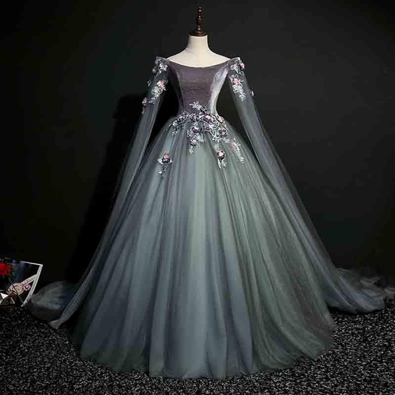 Grande taille 6XL robe de soirée de luxe gris foncé robe médiévale Renaissance victorienne Cosplay Costume de reine pour dame 4XL 5XL