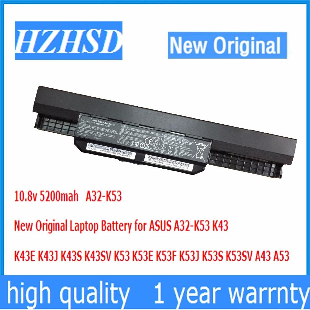 10.8v 5200mah New Original A32-K53 Laptop Battery for ASUS K43 K43E K43J K43S K43SV K53 K53E K53F K53J K53S K53SV A43 A53