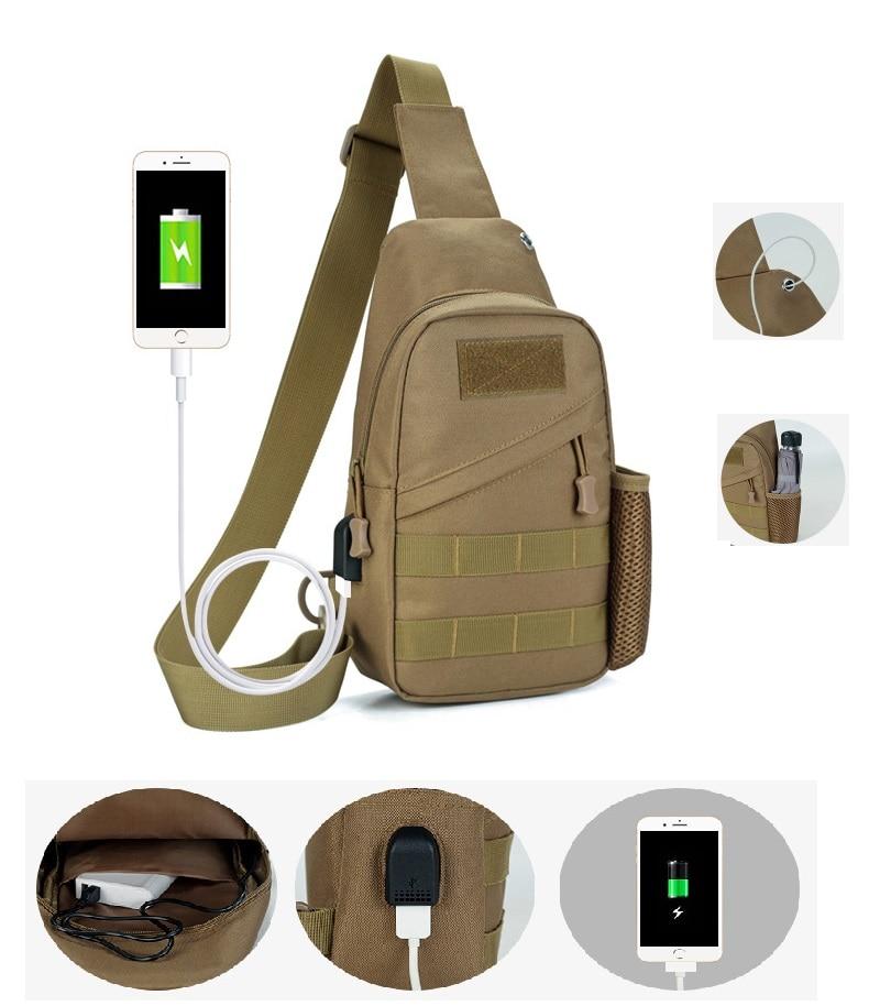 Outdoor Smart Men Shoulder Bag 30X16cm Messenger Bag Tactical Camouflage  Chest Bag Sports Bag 82726e05d917