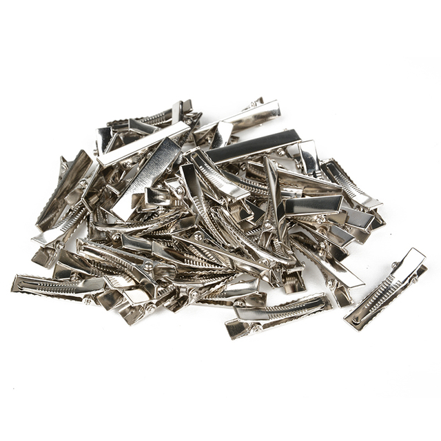 50pcs Metal Alligator Hair Clips Bow Teethed Barrette Crocodile Clamp For DIY Hair Accessories