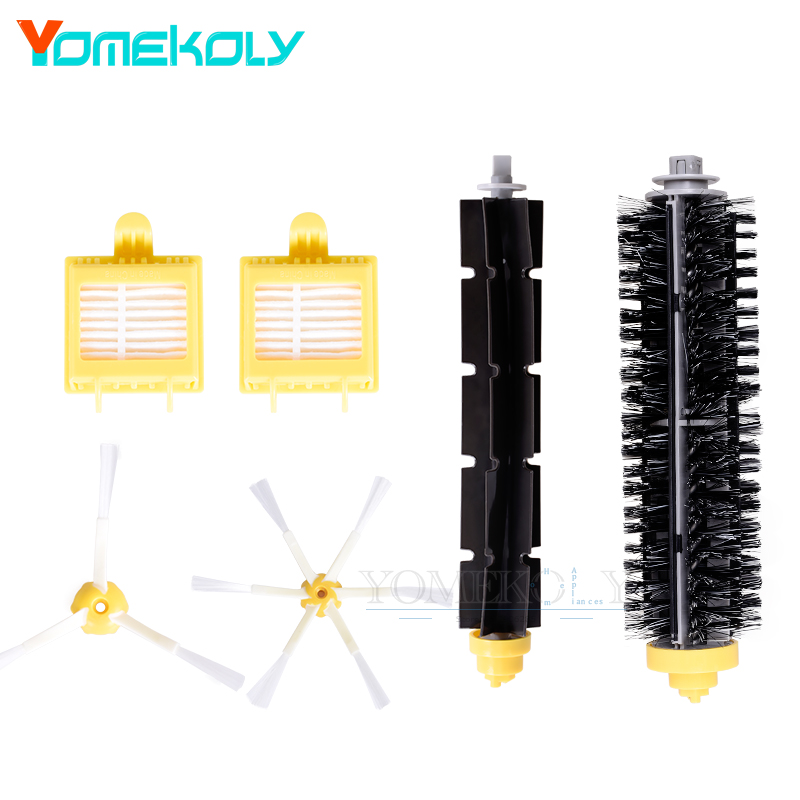 Replacement Hepa Filter For iRobot Roomba 700 series 760 770 780 Bristle Brush Flexible Beater Side Brush vacuum cleaner Parts flexible beater brush bristle brush for irobot roomba 500 600 700 series 550 630 650 660 760 770 780 790 vacuum cleaner parts