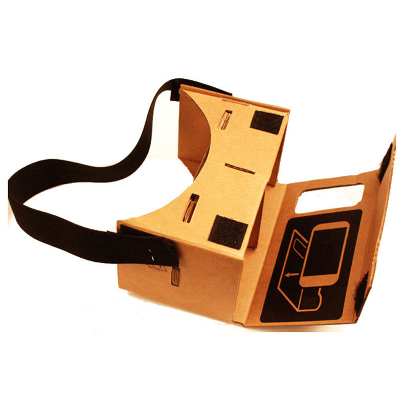 2017 Newest for Google Cardboard Valencia Quality VR 3D Virtual Reality Glasses For 4-6 inch For Samsung for iPhone X/8 in stock