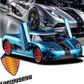 New Koenigsegg AGERA 1:32 car model kids toy Sports car supercar pull back light sound boy Fast & Furious free shipping