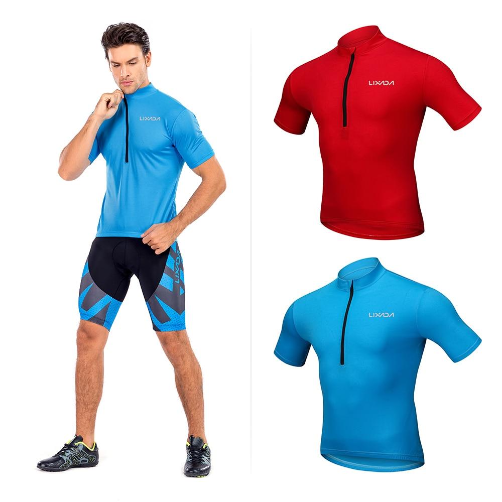 Cycling Clothing Shirt Jersey-Tops Short-Sleeve Bike Biking Ciclismo Racing Summer Lixada
