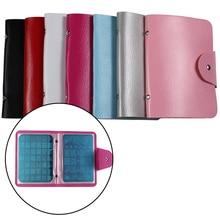 16Slots Nail Art Stamping Plates Leather Case/Bag/Folder Stamp Templates Holder Rectangle Bags Storage For 9.5*14.5cm#TD35#