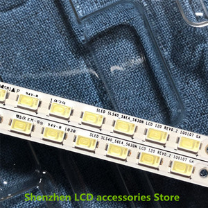 Image 3 - 4Pieces/lot   For Toshiba 40BF1C LCD backlit TV lamp strip LJ64 02267A/02268A with screen LTA400HF16    56LED   453MM