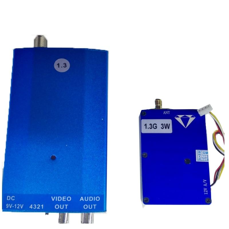 3 W 1.3G sans fil cctv émetteur récepteur 1.3G vidéo Audio émetteur image transmission cctv AV émetteur vidéo drone émetteur FPV|Transmission|Electronique -