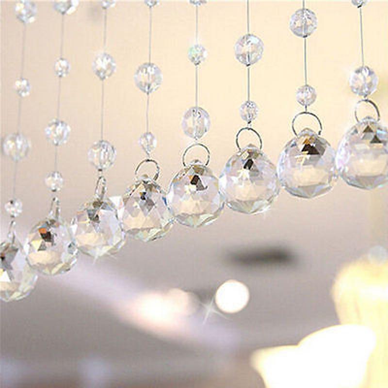 moda metros granos de cristal cortinas de cristal colgando adornos partitio boda teln de fondo