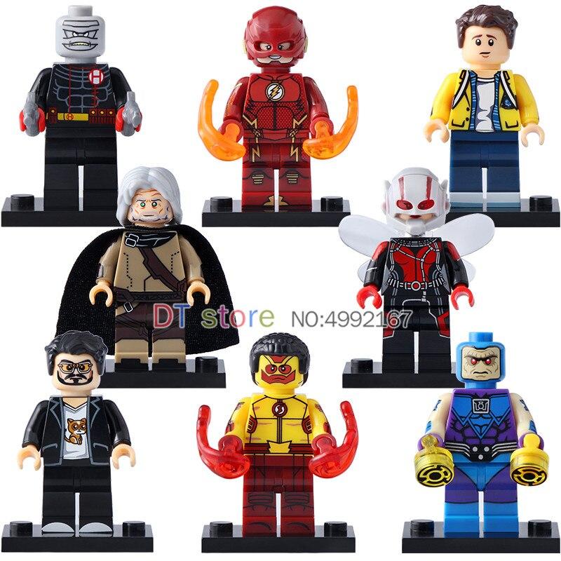 50 Pcs/Lot LegoING Super héros Iron Man Wally West The Flash Ego Wasp Spider-Man blocs de construction Kit jouets pour enfants X0134