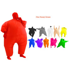 Adult Inflatable Sumo Wrestler Wrestling Suit Blow Up Fat Man Sumo Cosplay Costume Halloween Party Fancy Dress Full Body Suit(China)