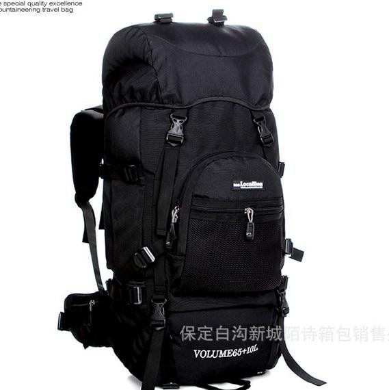 ФОТО Professional 75L bracket mountaineering bags outdoor travel backpack Large capacity Waterproof backpack international standard