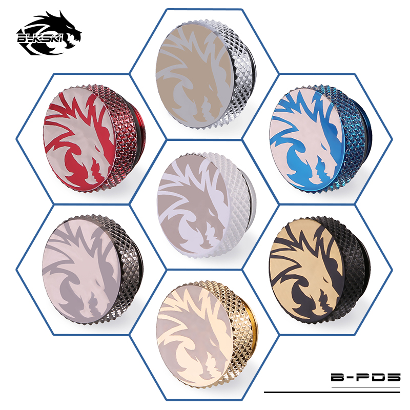 Bykski Frost ICE Dragon Printing Boutique G1/4 Water Stop Plug Hand Plug 7 Colors B-PD5