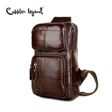 Classic Pattern Genuine font b Leather b font Men s Cross Body Chest Bag Pack 802075