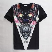 3D Bone T Shirt Men's Fitness Tshirt Dark Skull Printed Tee Punk Tattoo Shirt Homme Man Summer HOT SALE Personality Men Tops