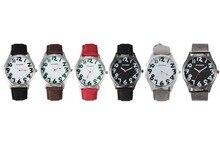 Ot03 продажи популярных цифровых Творческий любовь пару различные с белым воротником-стойкой модные часы и студенток.