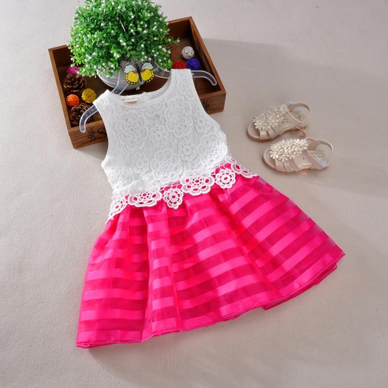 1b80cab136ea New 2016 Girls Dresses Fashion Casual Summer Lace crochet Tutu Dress ...
