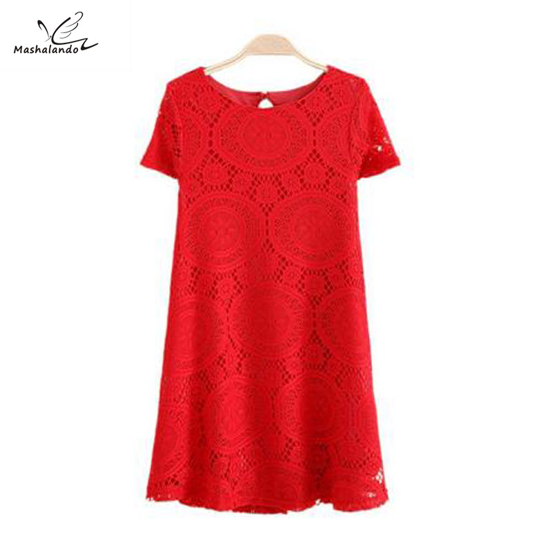 Buy ladies summer dress casual white lace for Where to buy casual dress shirts