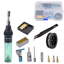 Butane Gas  Soldering Iron Pen Shaped Cordless DIY Butane Gas Gun Torch Welding Tool Portable Outdoor Soldering Blow Torch new top gas torch welding soldering iron little torch soldering with 5 weld tips