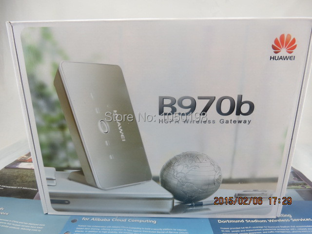 HUAWEI B970b / HSPA 2G/3G Modem WLAN DSL UMTS ROUTER( logo randomly) huawei b970b 7 2mbps ieee 802 11b g wlan 3g wifi pocket router