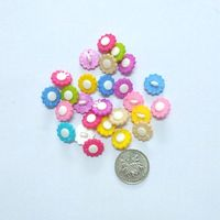 15MM Sunflower Shape Colors Dyed Combination Plastic Cartoons Brand Buttons Coat Boots Sewing Clothes Accessories 200pcs