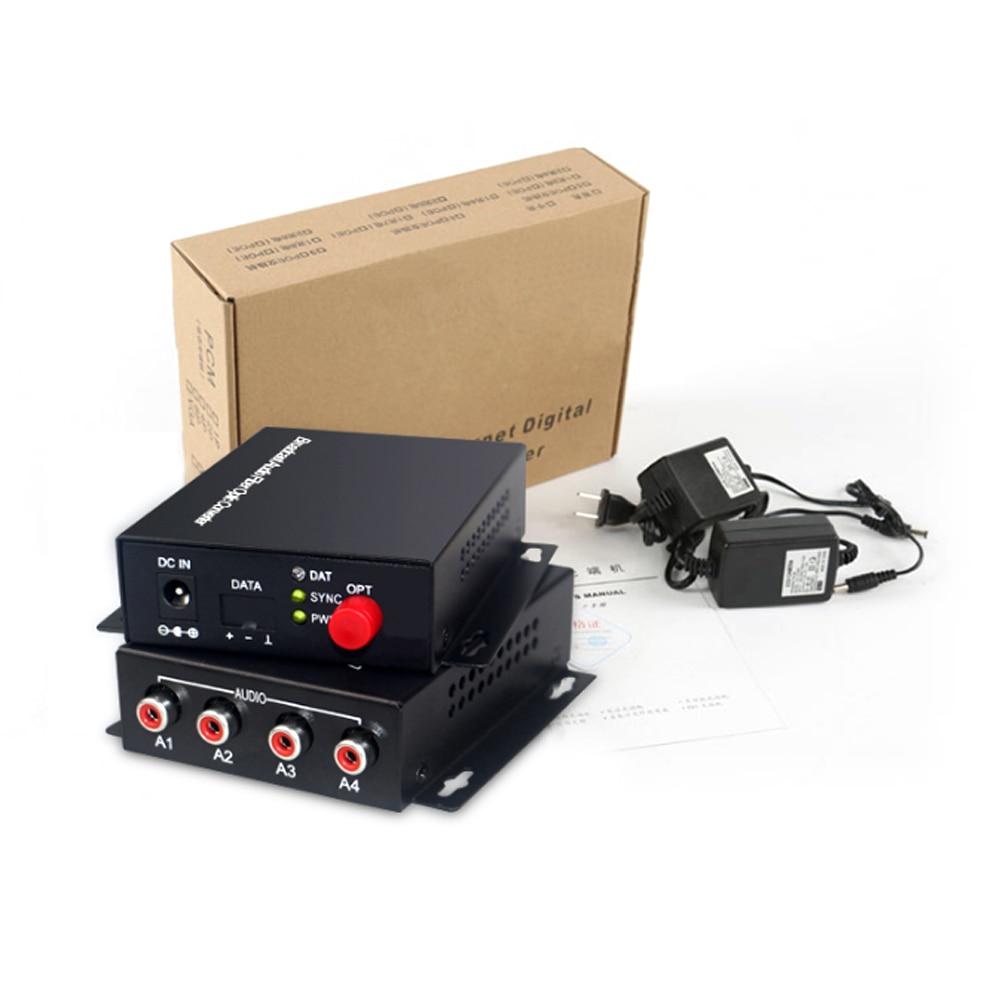 4 Transmissor e receptor de áudio sobre FC Extensor de fibra óptica - Equipamento de comunicação - Foto 4