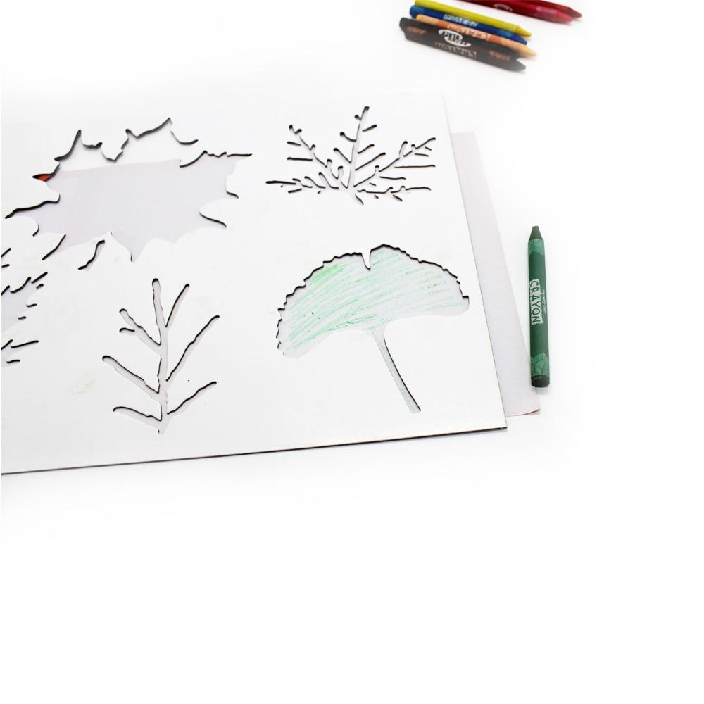 1 stks Muur Verf stencils Boom Tool multifunctionele Gebruik - School en educatieve benodigdheden - Foto 2