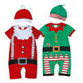 Christmas Santa Claus Baby Romper Infant Boy Girls Cotton 2pcs Sets Jumpsuit + Hat Character Costumes Newborn Clothes